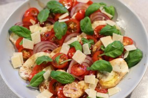 Her er det også tatt med parmesan - da blir det to oster....