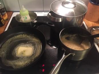 Alt i kok, imklusive melk til Agnes, 3 mnd...